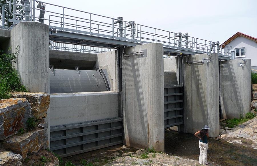 Hochwasserrückhaltebecken